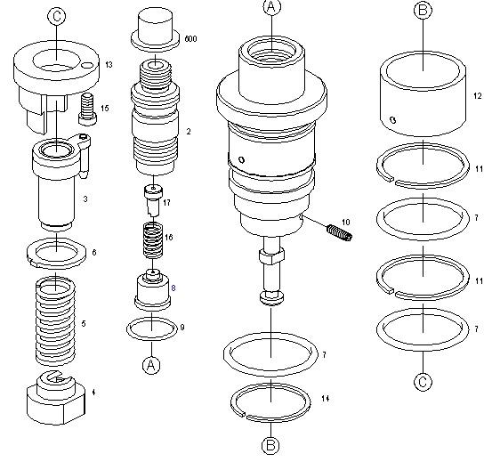 Топливный насос bosch 0414401101 deutz 02111066